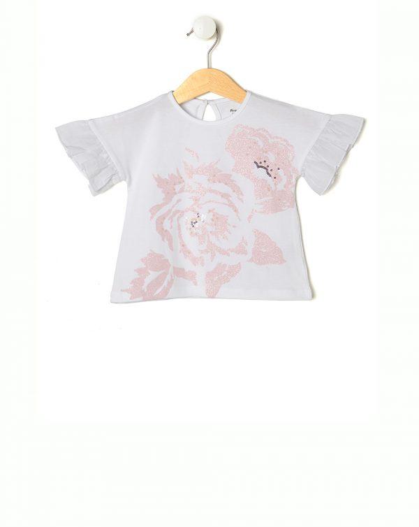 T-Shirt Elegant με Τριαντάφυλλο για Κορίτσι