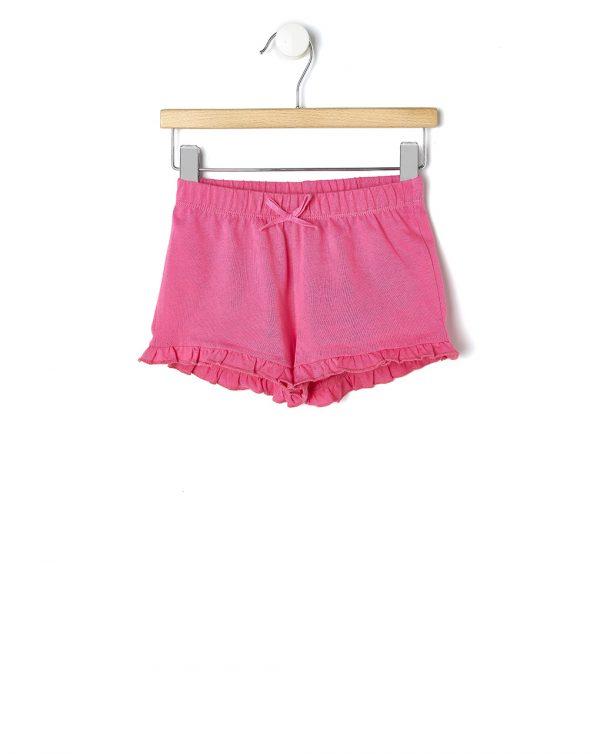Σορτσάκι Jersey Basic Φούξια για Κορίτσι