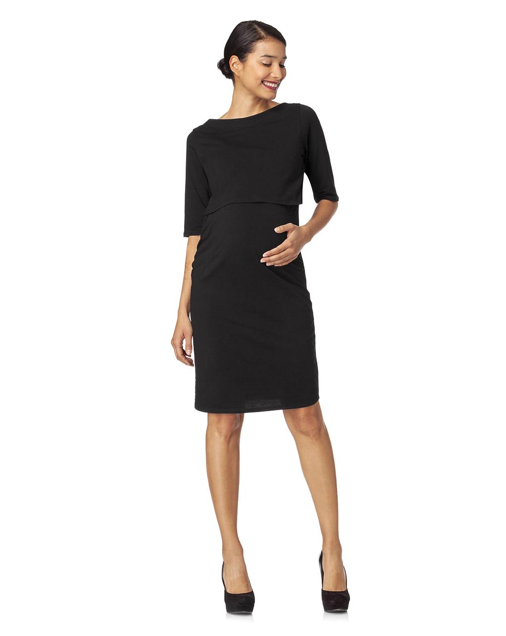 Γυναικείο Φόρεμα Θηλασμού Σωλήνας Μαύρο