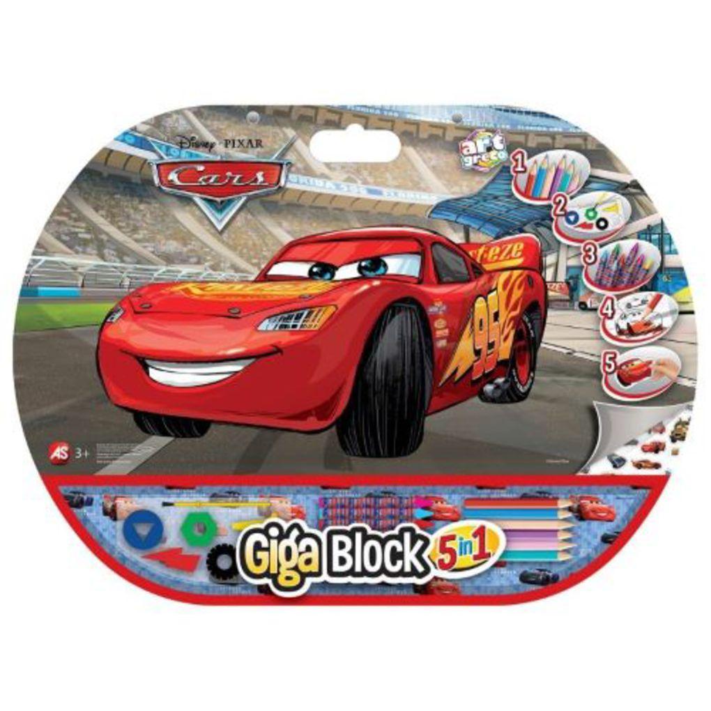 ΣΕΤ ΖΩΓΡΑΦΙΚΗΣ GIGA BLOCK 5 IN 1 CARS
