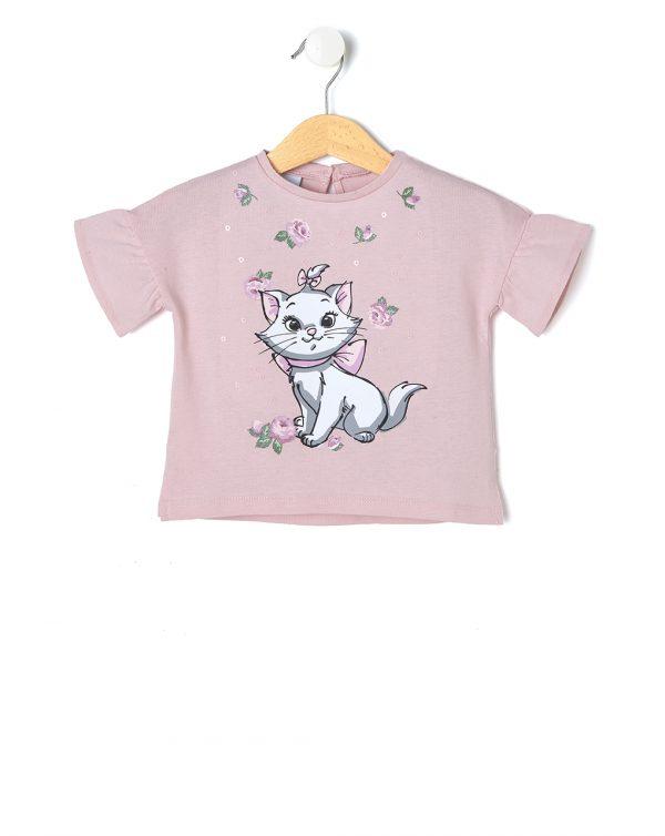 T-Shirt Jersey με Στάμπα Minou για Κορίτσι