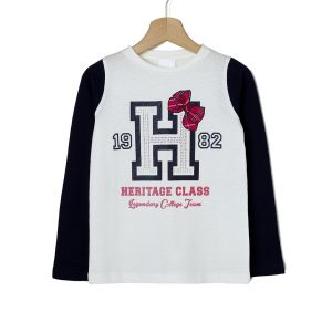 T-shirt Jersey με Στάμπα για Κορίτσι