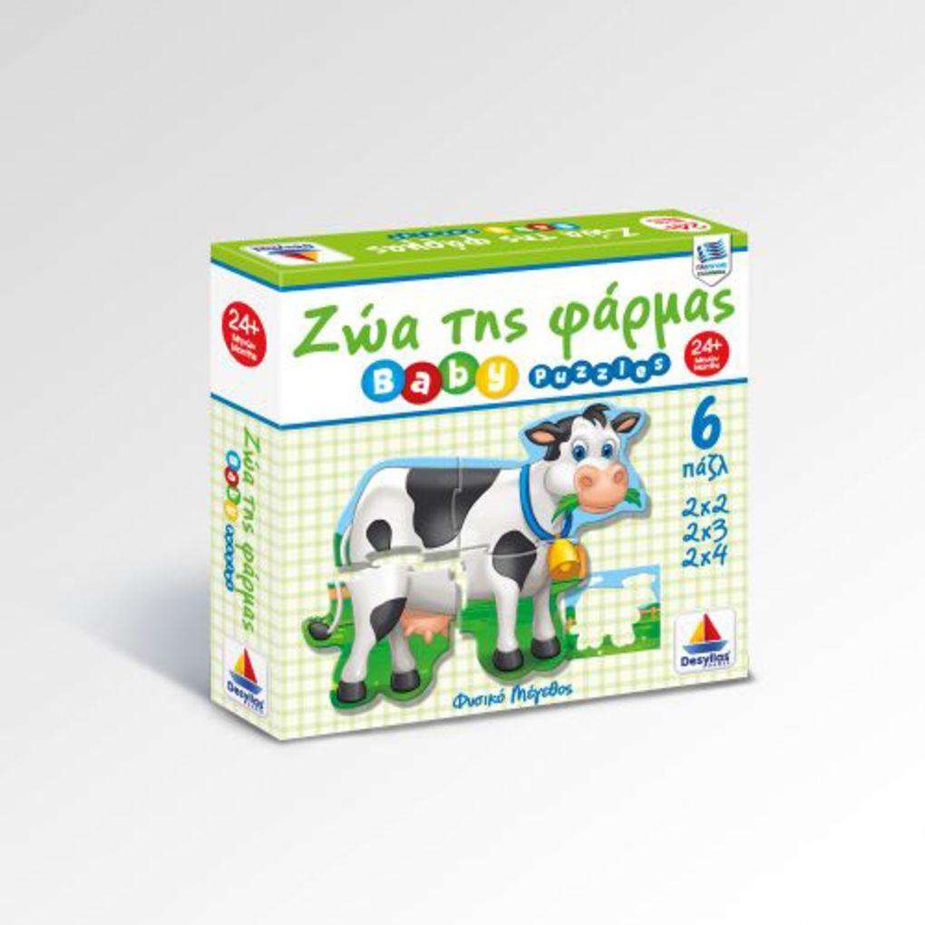Puzzle Ζώα φάρμας (6 παζλ 2Χ2, 2Χ3, 2Χ4)