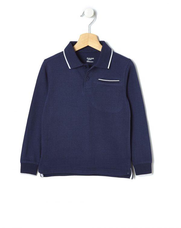 Μπλούζα Πόλο Jersey Basic Μπλε Μεγ.8-9/9-10 Ετών για Αγόρι