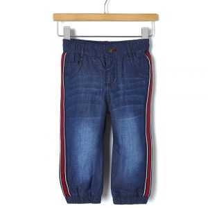 Παντελόνι denim με φόδρα και λωρίδες στο πλάι