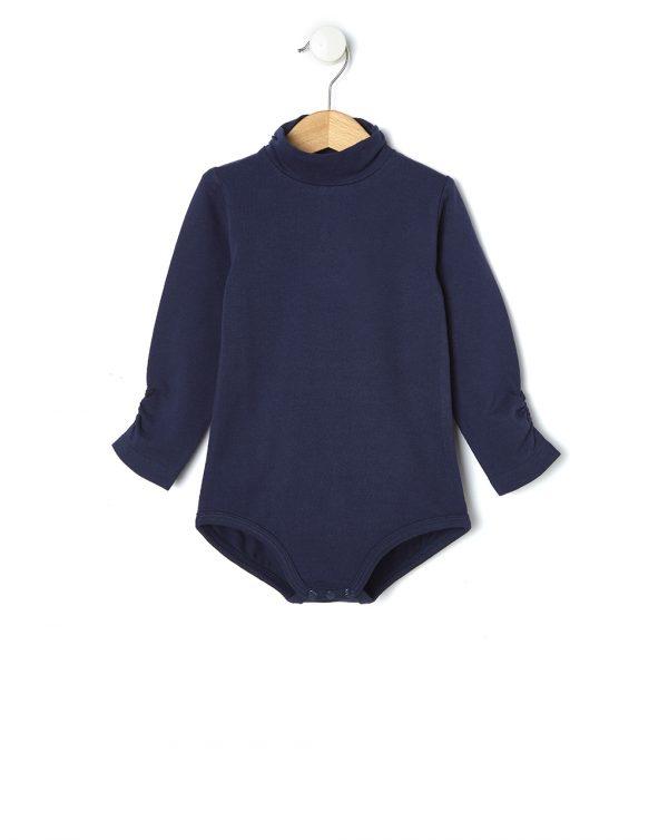 Κορμάκι Jersey Μακρυμάνικο Σκούρο Μπλε για Κορίτσι
