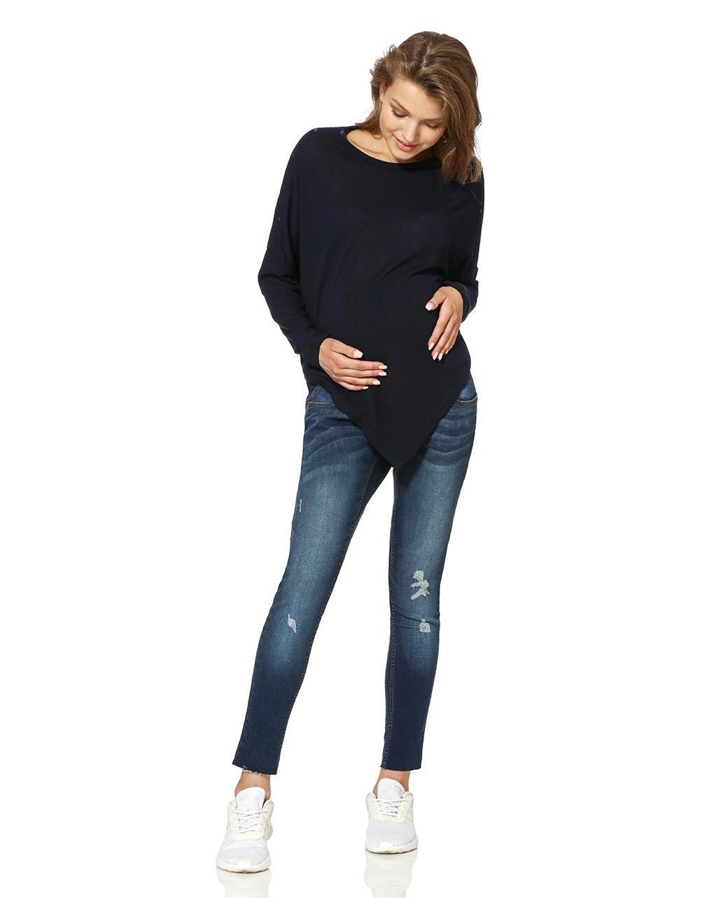 Γυναικεία Μπλούζα-Πόντσο Θηλασμού Μπλε