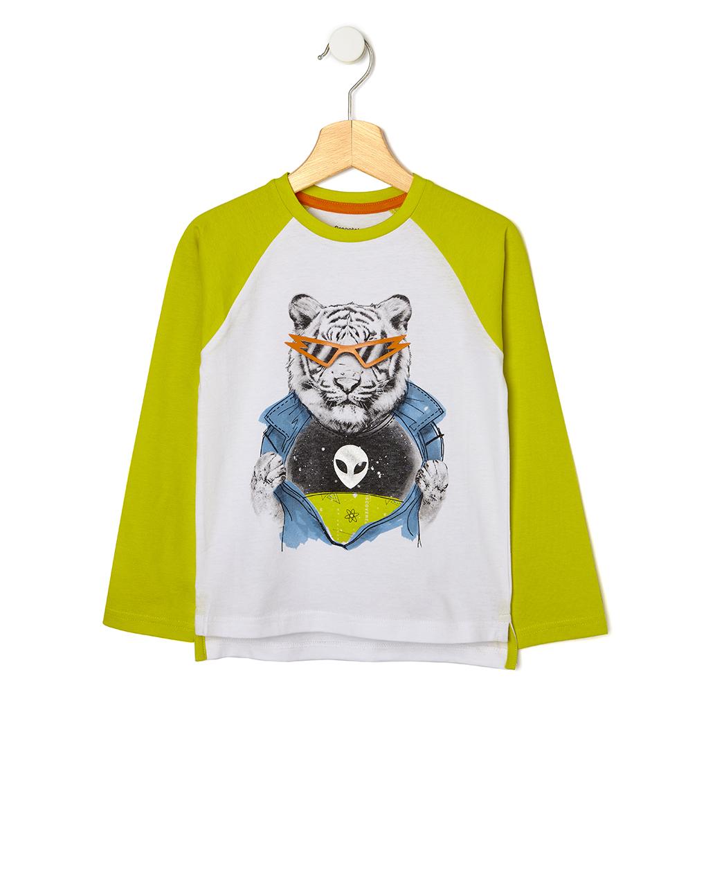 T-shirt με Στάμπα Μεγ.8-9/9-10 Ετών για Αγόρι