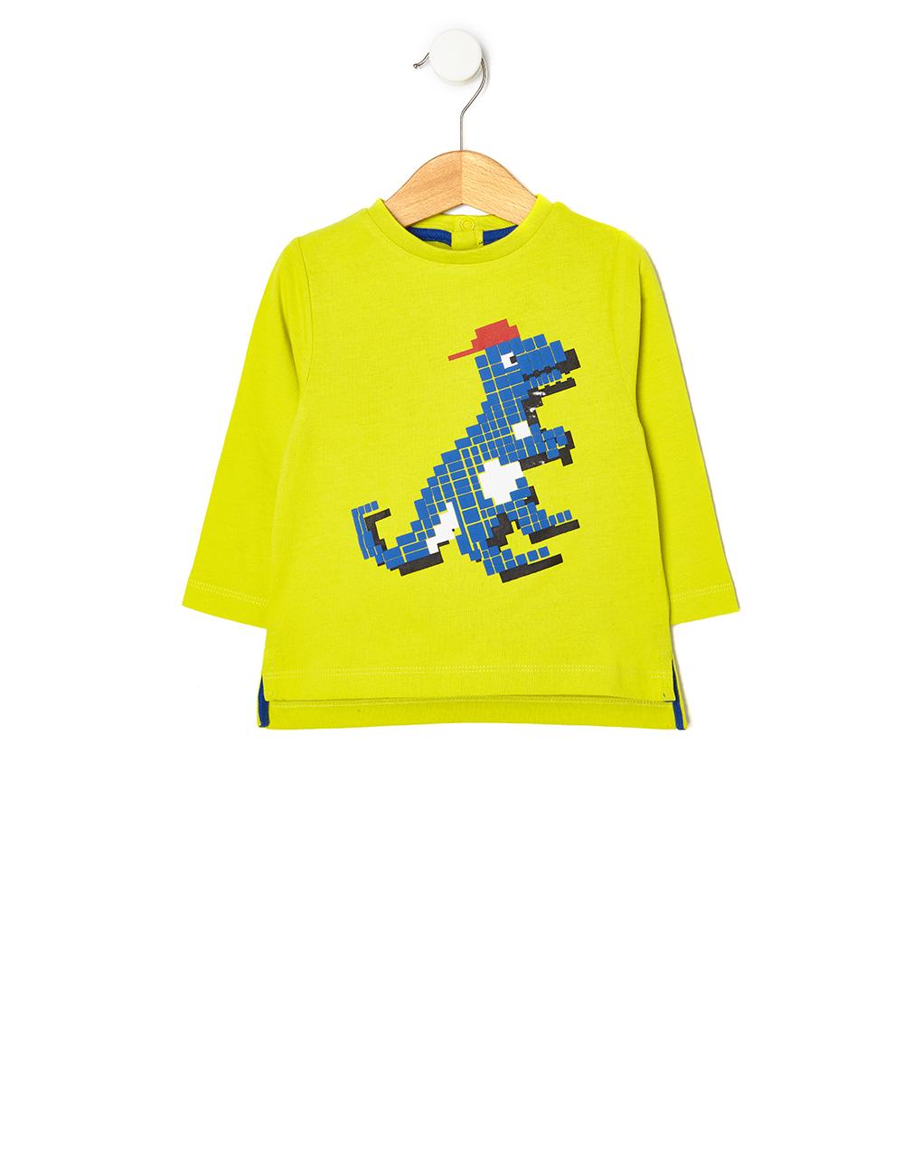 T-shirt με Στάμπα Δεινόσαυρο για Αγόρι