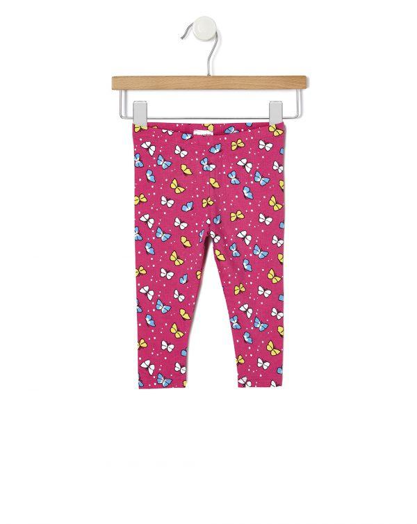 Κολάν Jersey Φούξια με Πεταλούδες για Κορίτσι