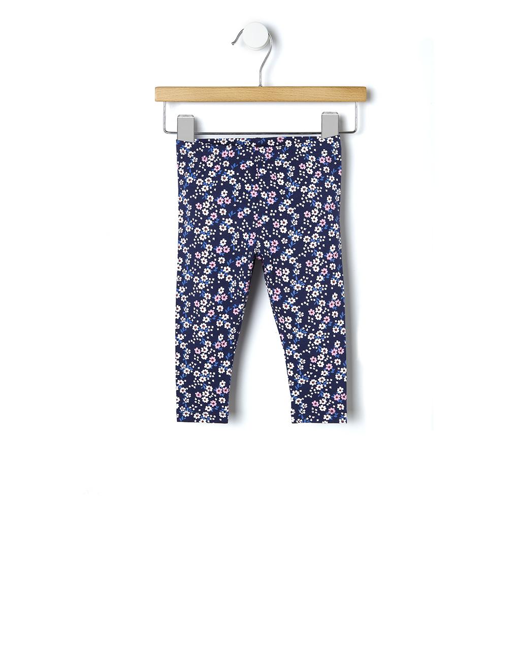 Κολάν Jersey Μπλε με Λουλούδια για Κορίτσι