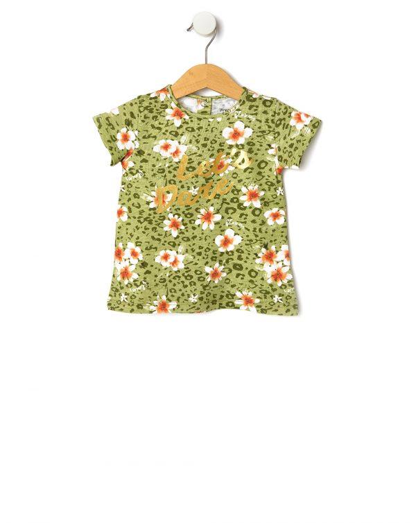 T-Shirt με Εμπριμέ Στάμπα για Κορίτσι
