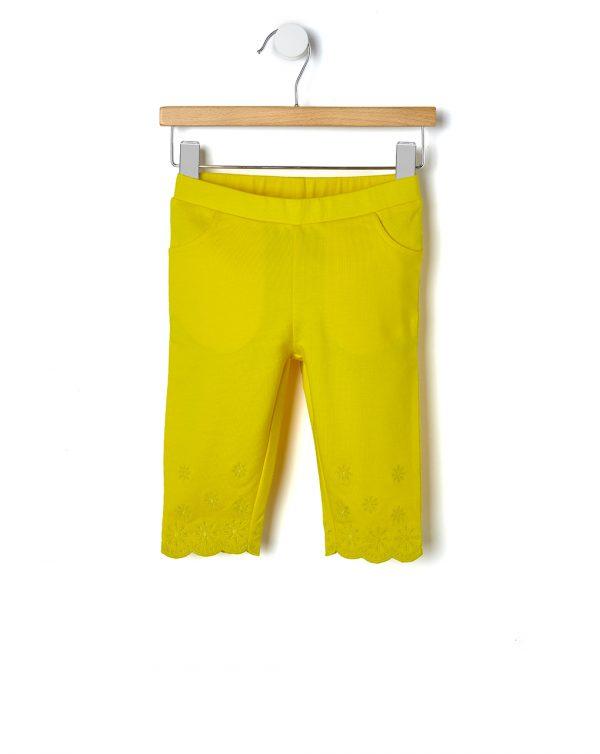 Παντελόνι Κίτρινο με Κέντημα για Κορίτσι