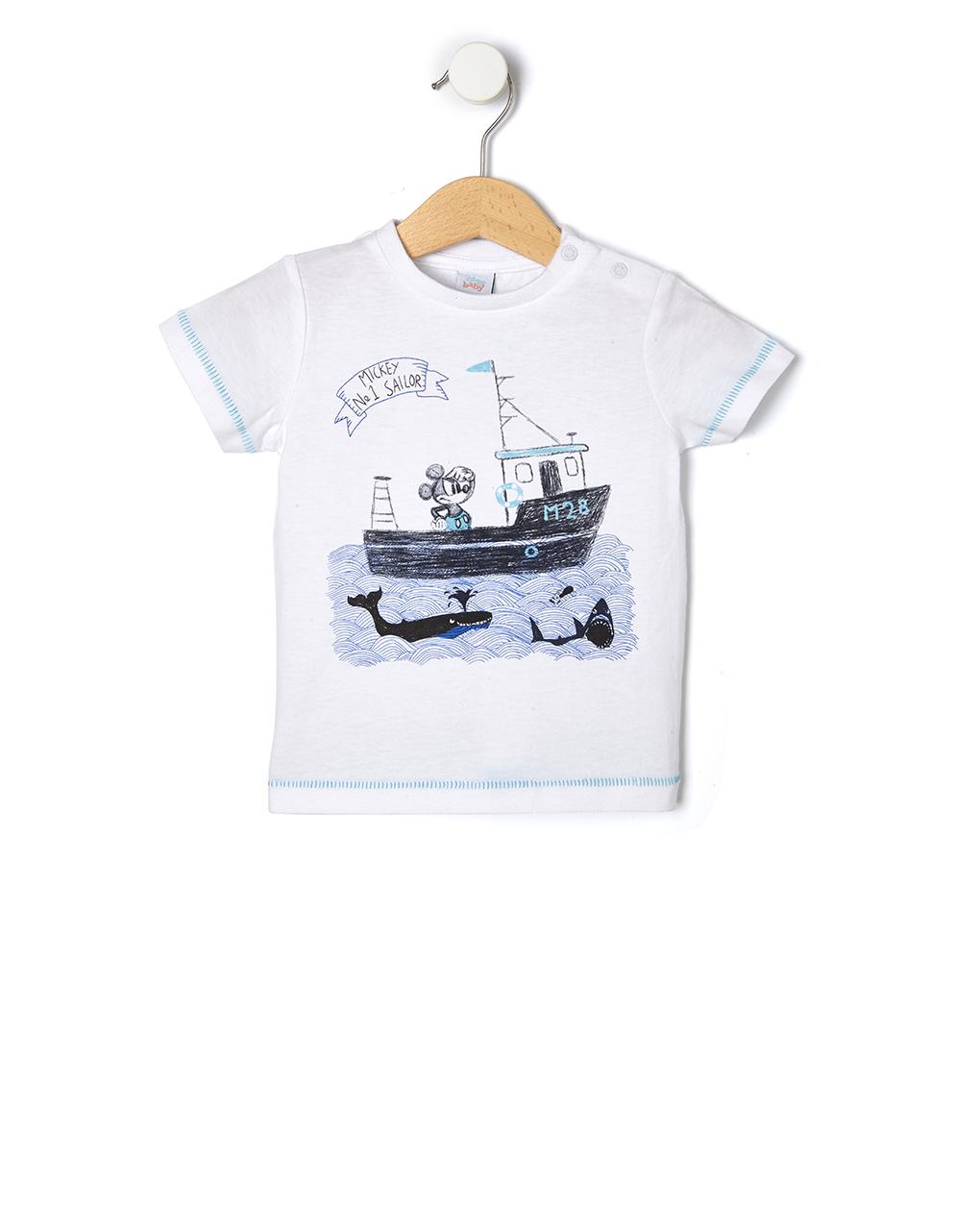 T-shirt Mickey Mouse Λευκό για Αγόρι