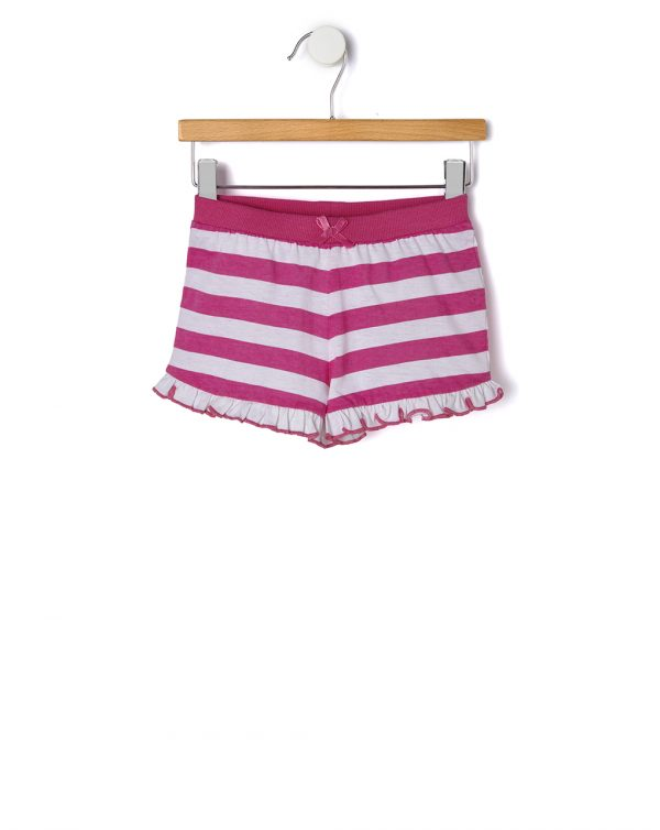 Σορτσάκι Jersey Basic με Ρίγες για Κορίτσι