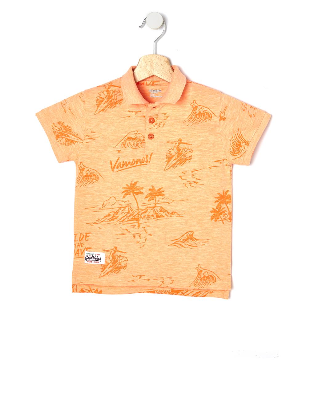 Μπλουζάκι Πόλο Πικέ με Στάμπα Μεγ.8-9/9-10 Ετών για Αγόρι