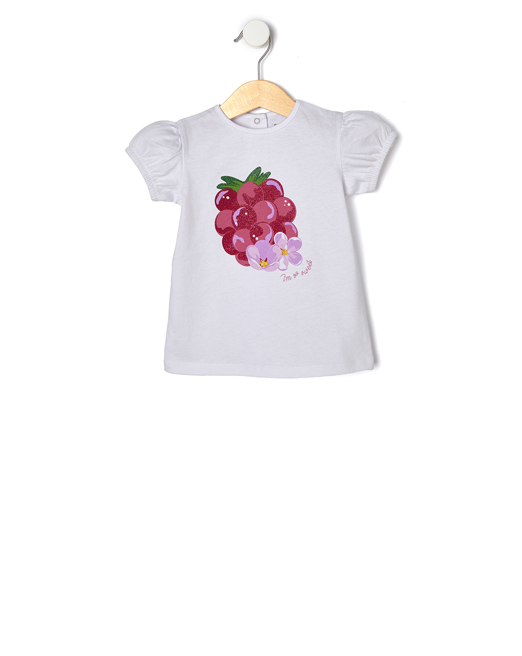 T-Shirt Λευκό με Στάμπα Glitter για Κορίτσι