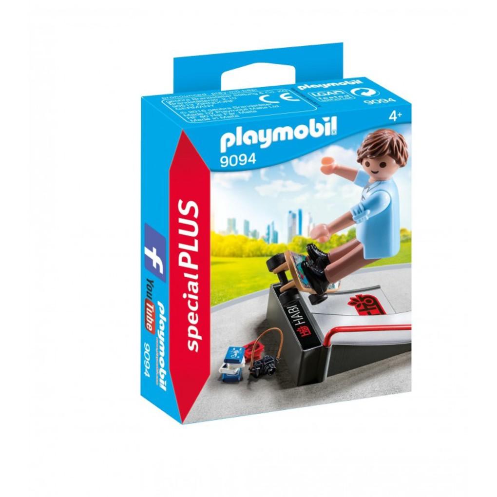 Playmobil Skateboarder με ράμπα