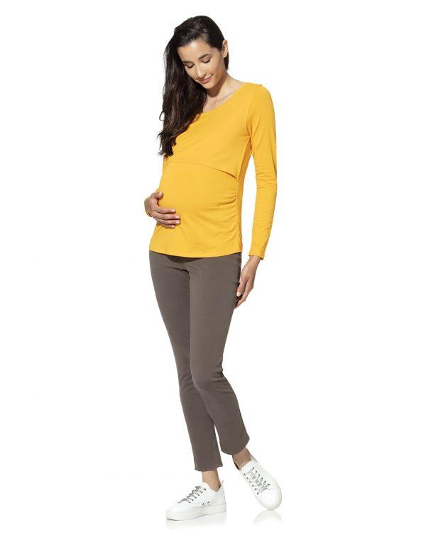 Γυναικείο T-Shirt Θηλασμού Κίτρινο