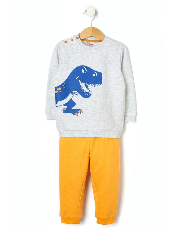 Πιτζάμα Φούτερ με Δεινόσαυρο για Αγόρι