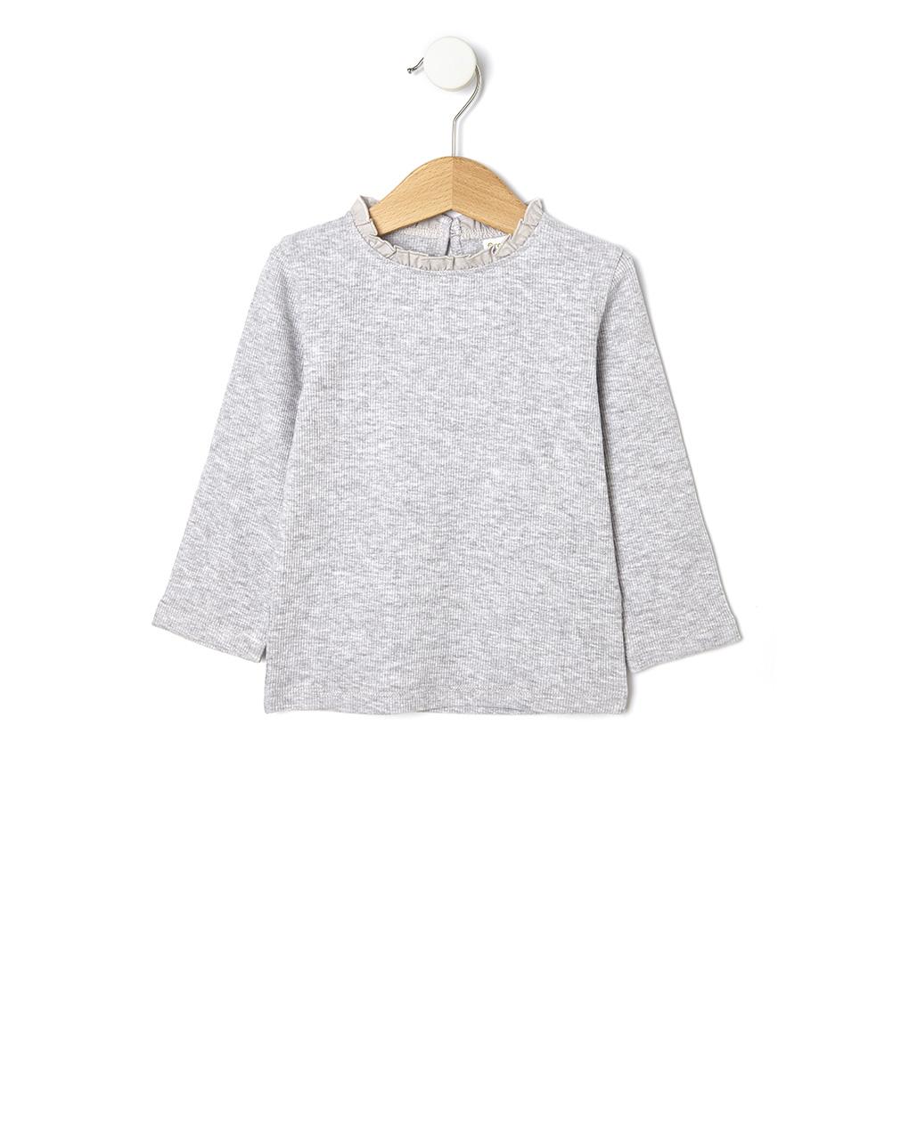 T-shirt basic ριγωτή ύφανση