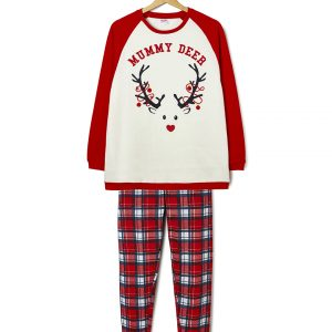 Χριστουγεννιάτικη πιτζάμα φούτερ Family mummy