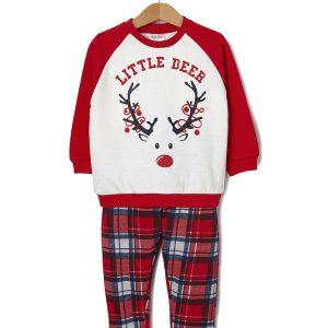 Χριστουγεννιάτικη πιτζάμα φούτερ Family baby