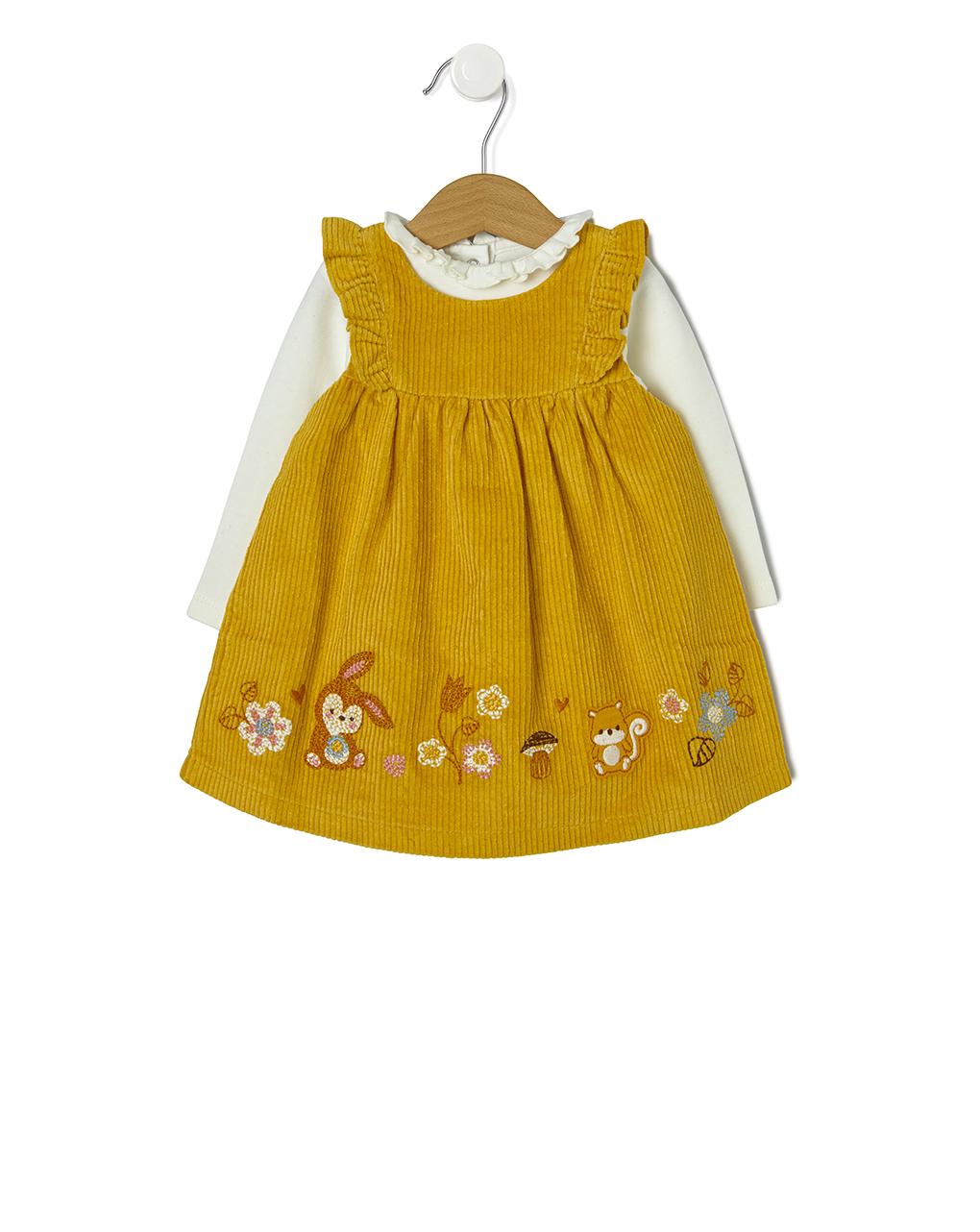 Φόρεμα Αμάνικο με Body για Κορίτσι