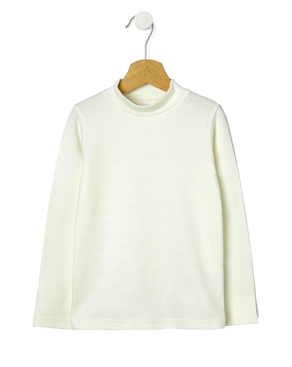 Μπλουζάκι με ψηλό γιακά basic μονόχρωμο