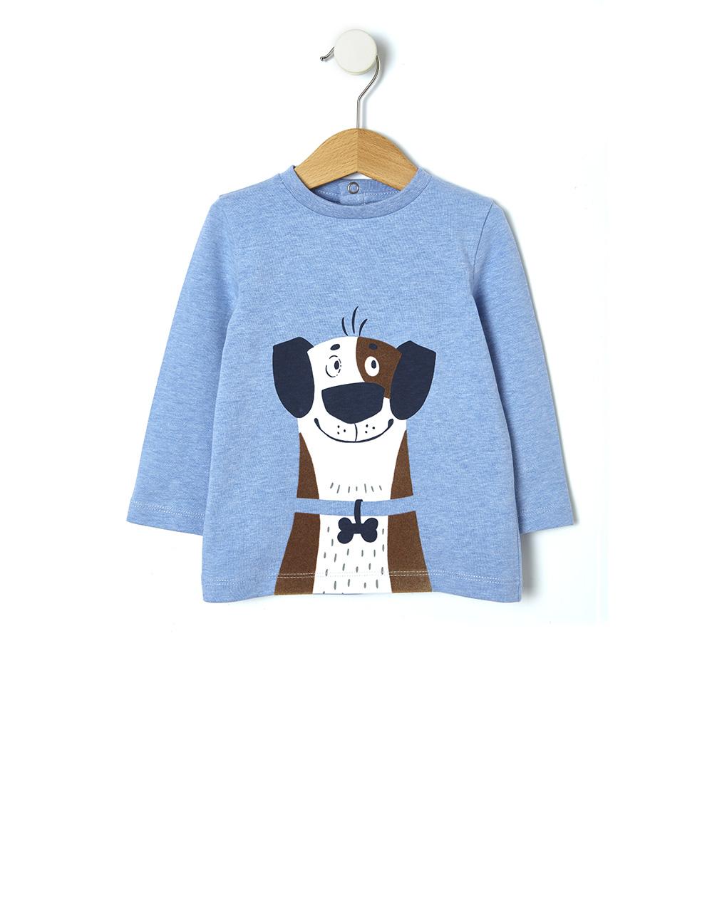 T-shirt με στάμπα σκυλάκι
