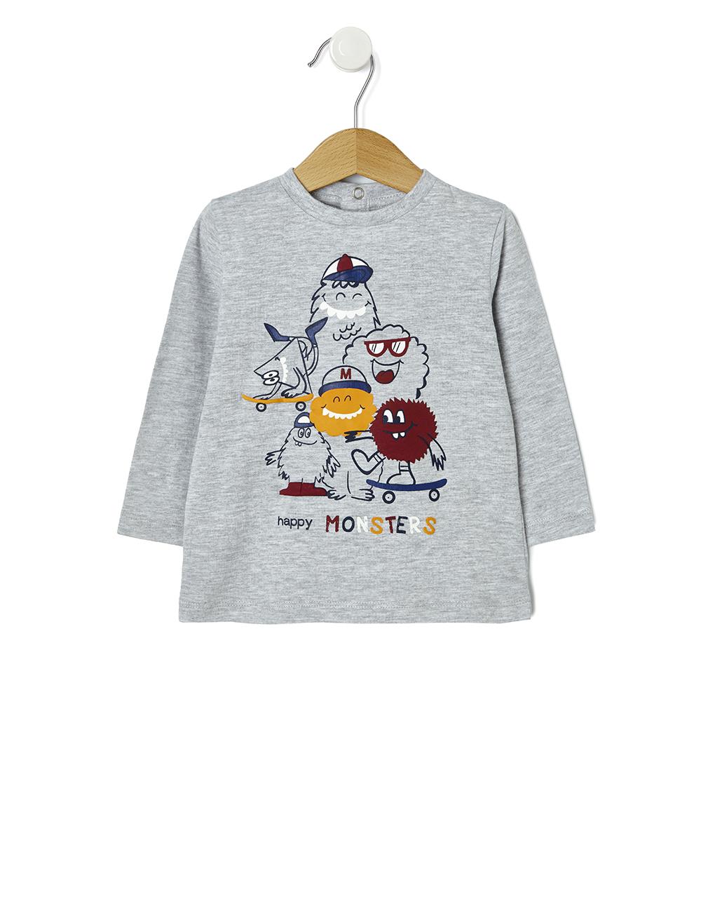 T-shirt basic με στάμπα