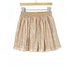Φούστα με χρυσές παγιέτες