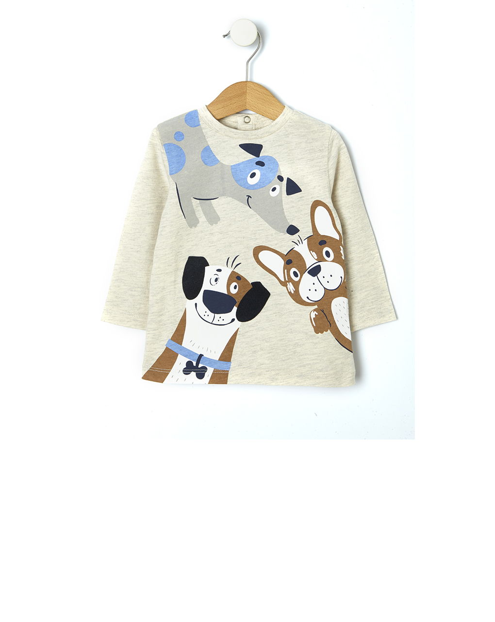 T-shirt με στάμπα σκυλάκια