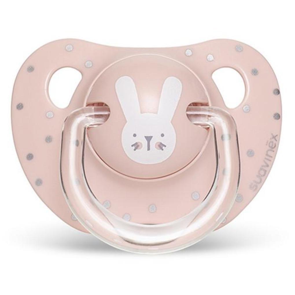Πιπίλα Σιλικόνης Ανατομική Evo Hygge 0-6μ Rabbit Pink