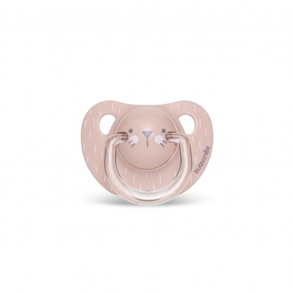 Πιπίλα Σιλικόνης Ανατομική Evo Hygge 6-18μ Whiskers Pink
