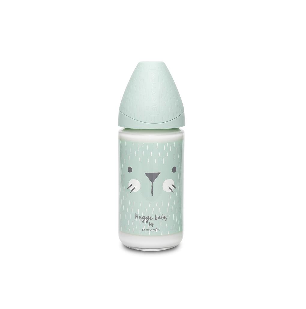 Mπιμπερό γυάλινο Hygge 240 ml Whiskers Green