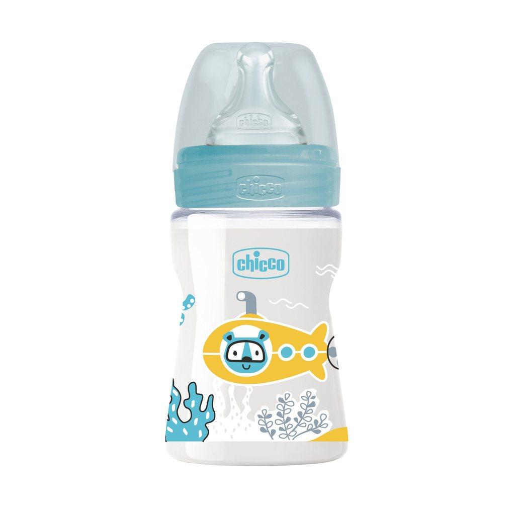 Μπιμπερό Πλαστικό Well Being Σιέλ 150 ml