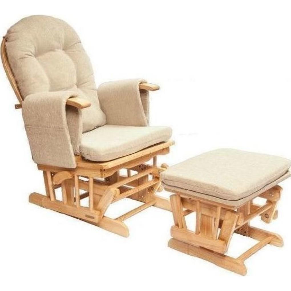 Κουνιστή ξύλινη πολυθρόνα θηλασμού Nature