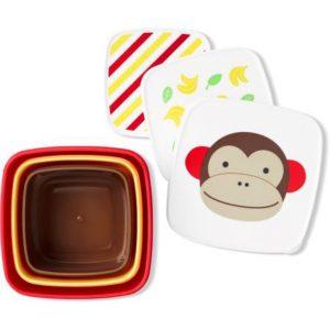 Skip Hop Σετ Δοχείων Φαγητού 3σε1 Μαϊμού