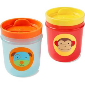 Skip Hop Ποτηράκια με καπάκι 2σε1 Μαϊμού/Σκύλος