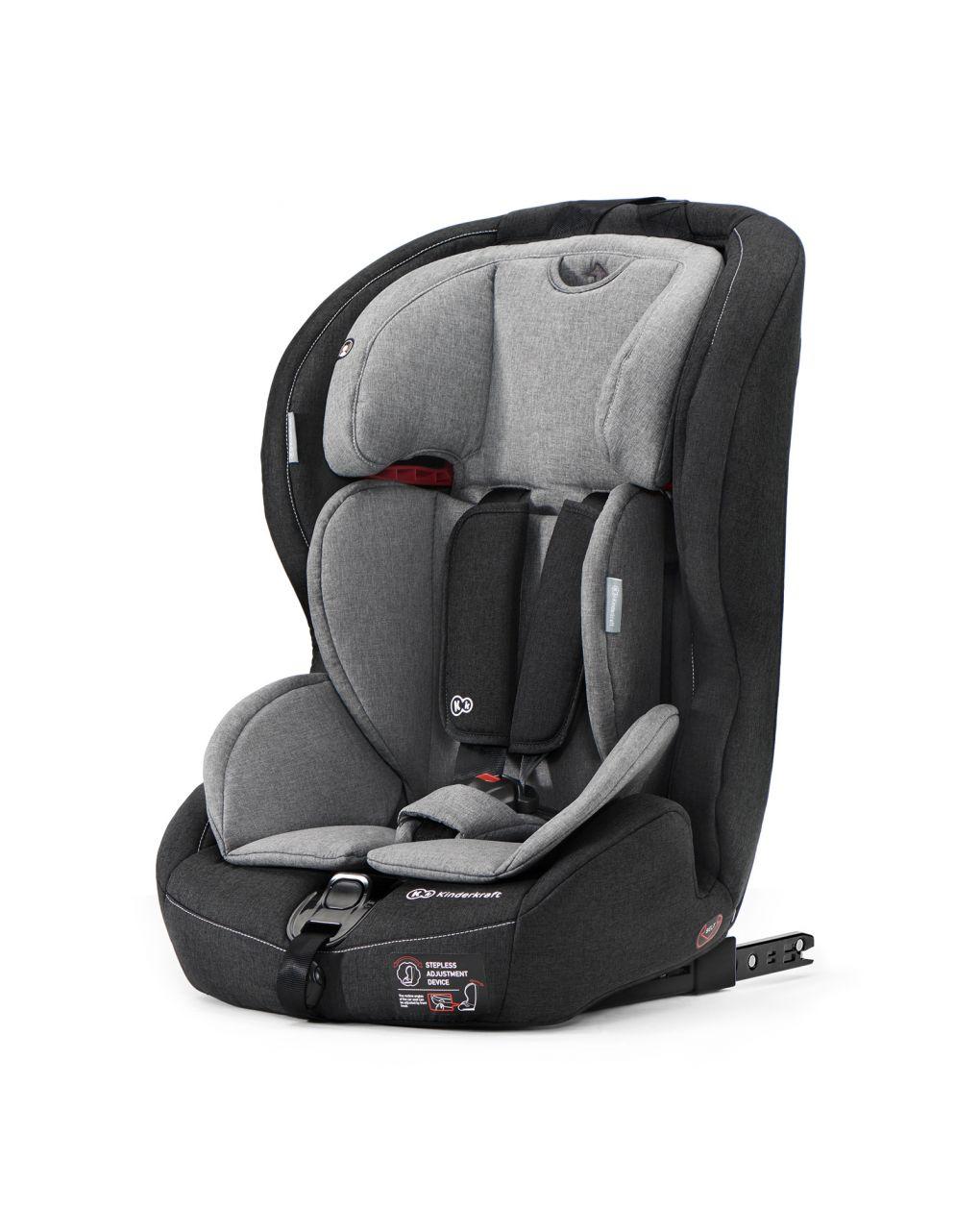 Kinderkraft Kάθισμα Αυτοκινήτου Safety-Fix Black-Grey Isofix
