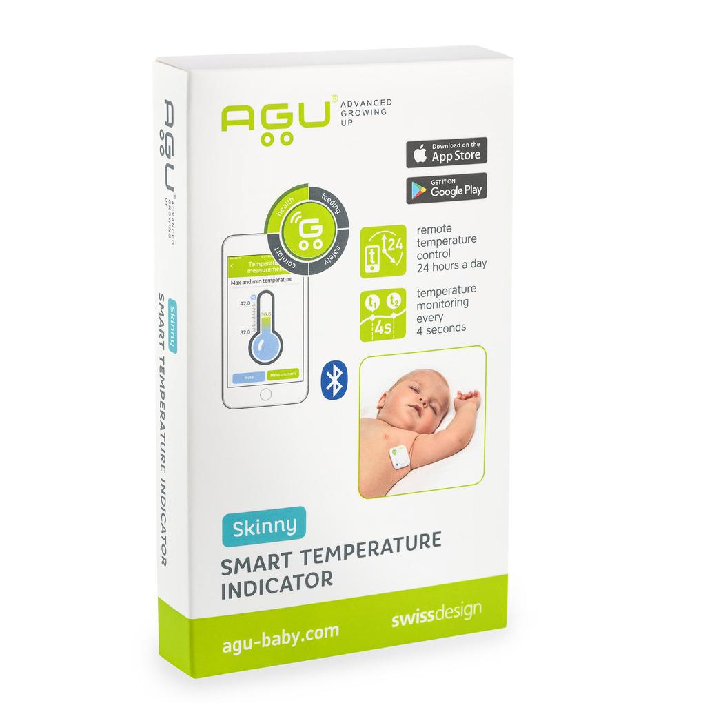 Θερμόμετρο για βρέφη με αυτοκόλλητα AGU Smart On-body