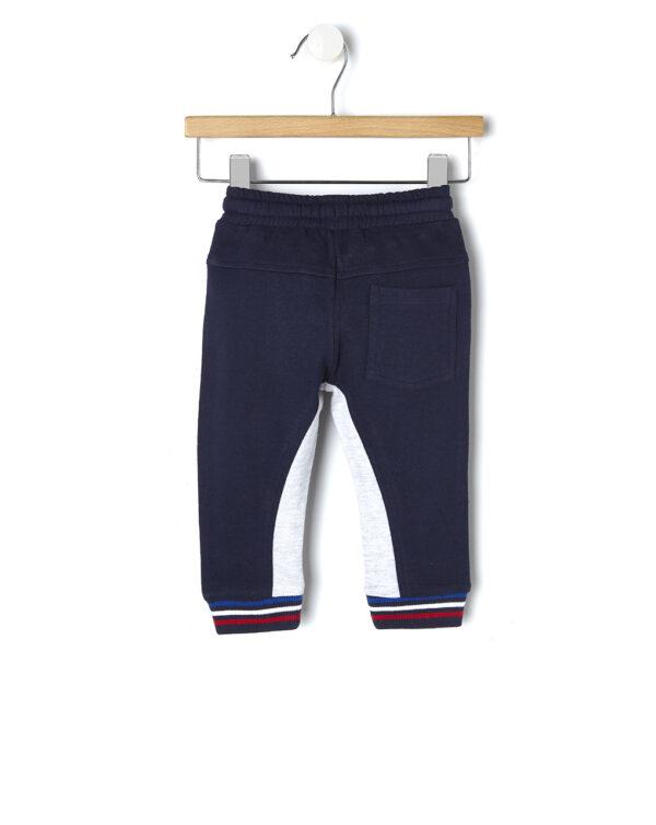 Pantaloni blu con bande laterali e scritta - Prénatal