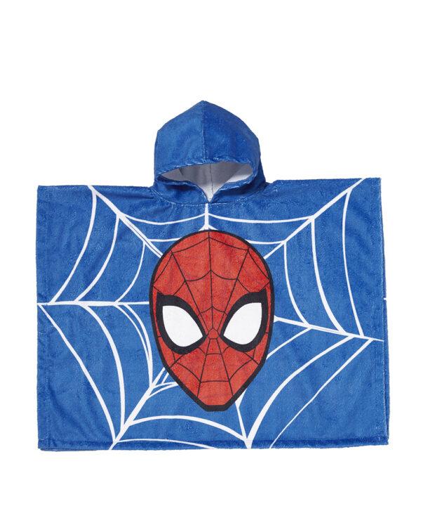 Poncho mare turchese con stampa Spiderman - Prénatal