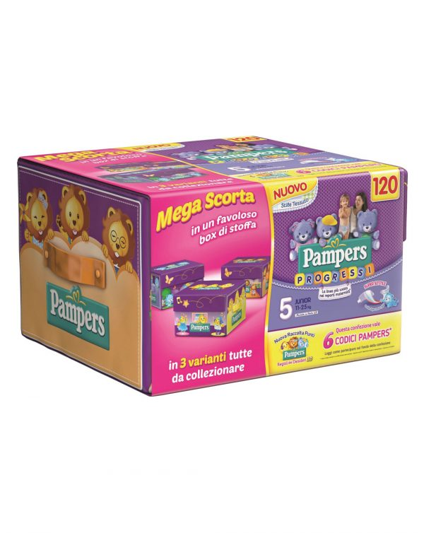 Box esapack Pampers Progressi junior (tg. 5) - Prénatal
