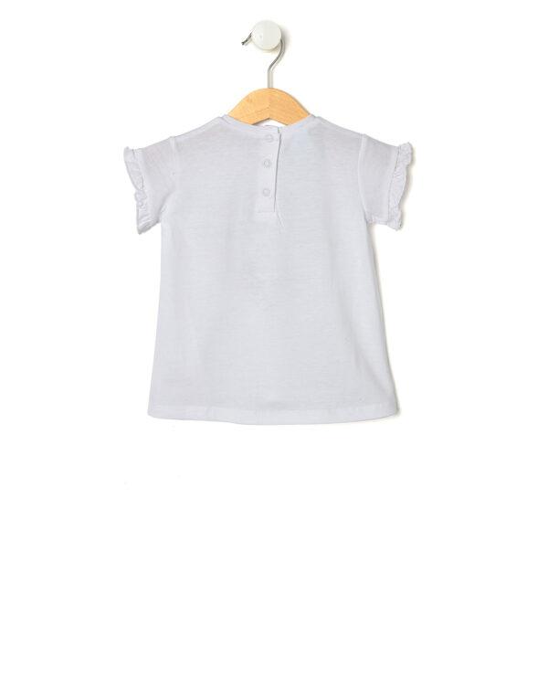 T-shirt bianca con Minnie e Mickey Mouse in un cuore - Prénatal