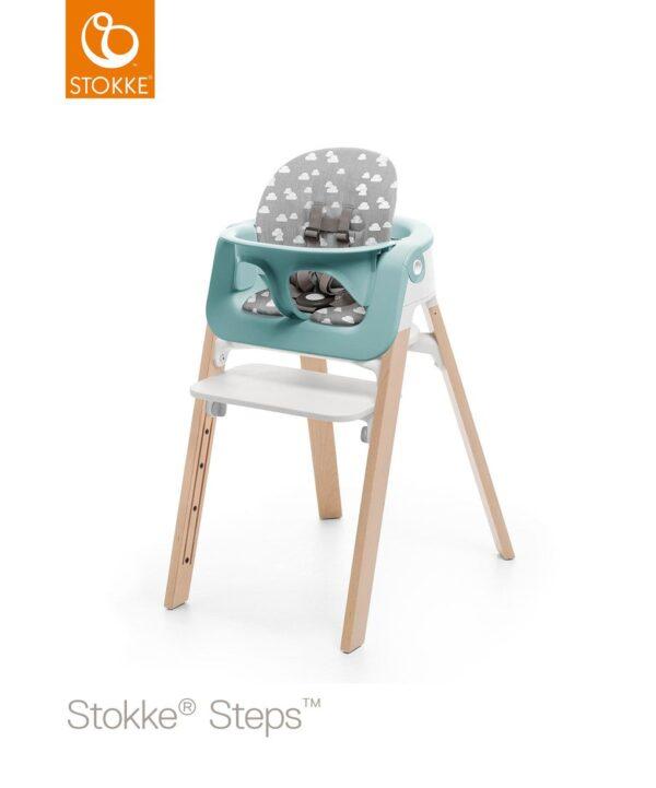 Cuscino Stokke® Steps Baby Set - Grey Clouds - Stokke