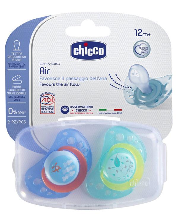 Succhietto Air Silicone 12m+ Boy (2pz) - Chicco