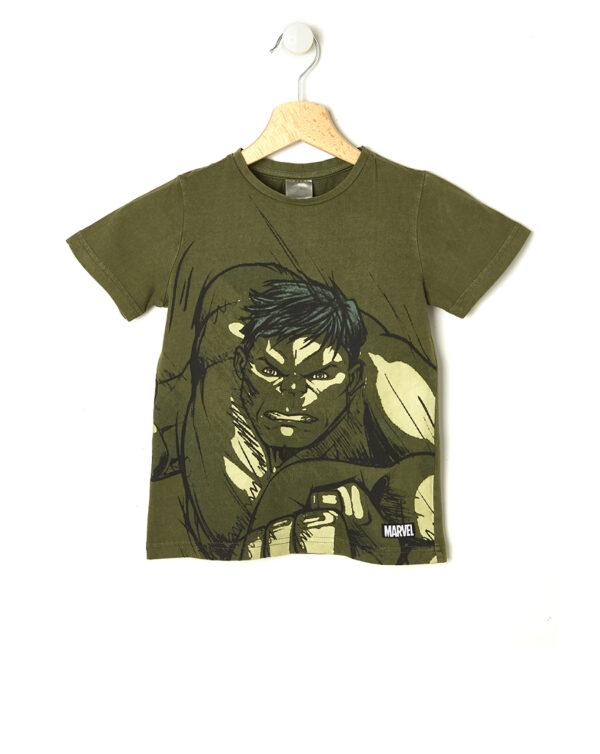 T-shirt verde con Hulk - Prénatal
