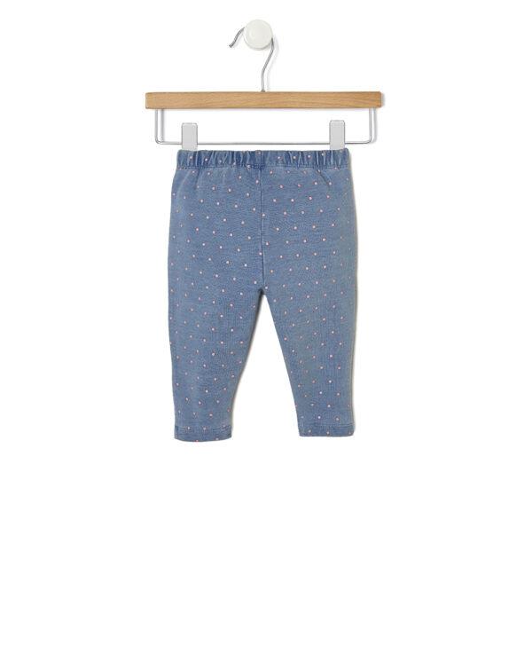 Completo bianco e azzurro a pois con maglia e pantaloni - Prénatal